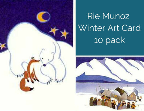WINTER ART CARD 10 PACK RIE MUNOZ