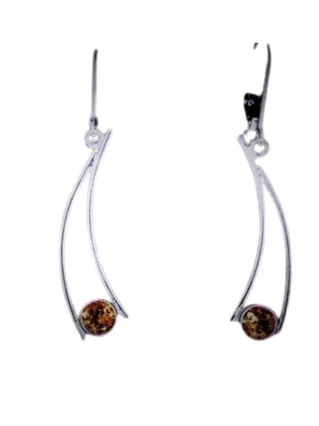 CITRINE CURVED EARRING