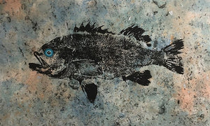 BLACK SEA BASS ORIGINAL GYOTAKU
