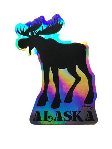 HOLOGRAPHIC MOOSE STICKER