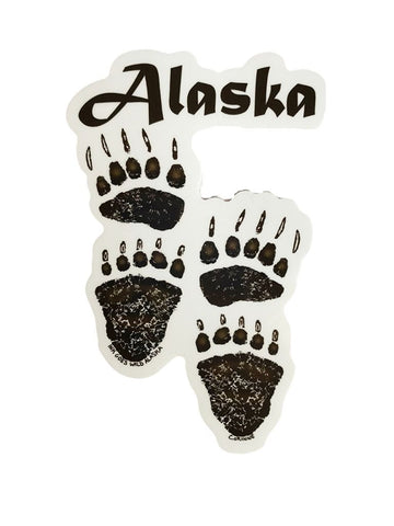 BROWN BEAR TRACK WITH ALASKA STICKER