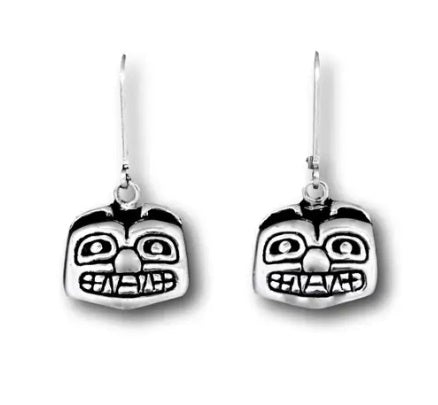 BEAR FACE EARRINGS SMALL
