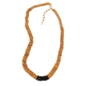 GONE TO SEED TWO TONE CONTOUR NECKLACE
