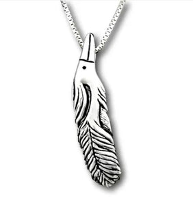 HERON FEATHER NECKLACE