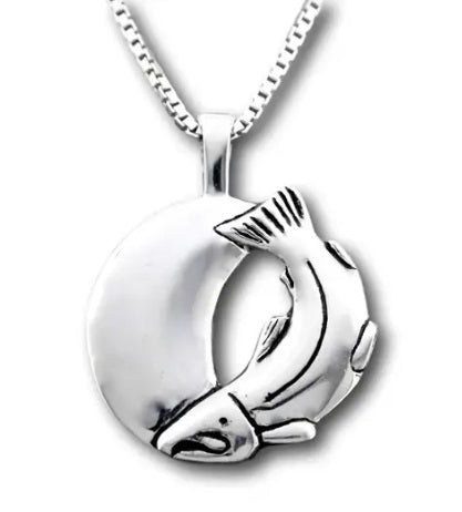 SALMON COMING HOME NECKLACE