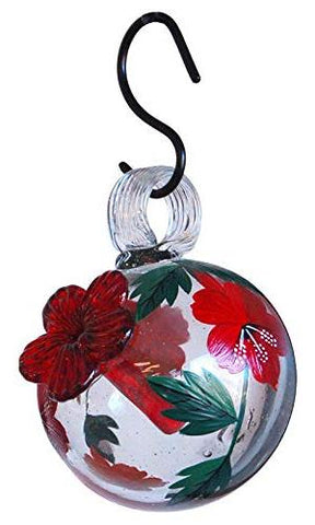 CLEAR HAND-PAINTED BOTANICA DROPLET HUMMINGBIRD FEEDER