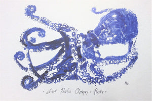 GIANT PACIFIC OCTOPUS GYOTAKU
