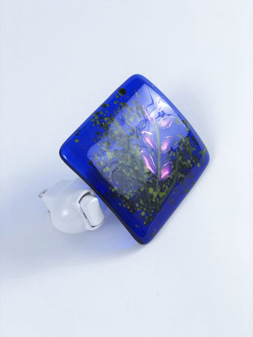 BLUE GLASS NIGHT LIGHT
