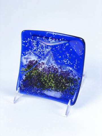 MOUNTAIN SQUARE PLATE 6""