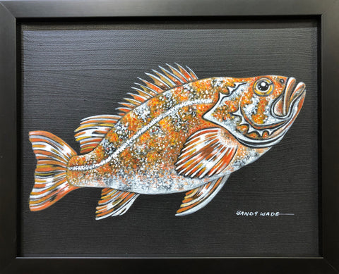 CANARY ROCKFISH ORIGINAL PAINTING