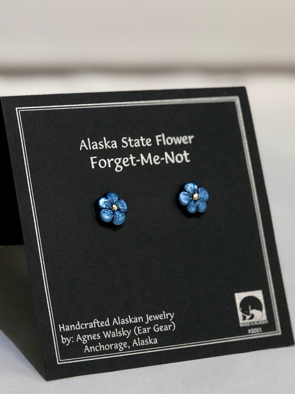 FORGET ME NOT SMALL POST EARRINGS