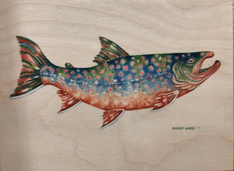 DOLLY VARDEN ORIGINAL ON WOOD