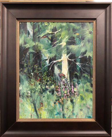 GHOST TREE IN THE WIND FRAMED ORIGINAL OIL