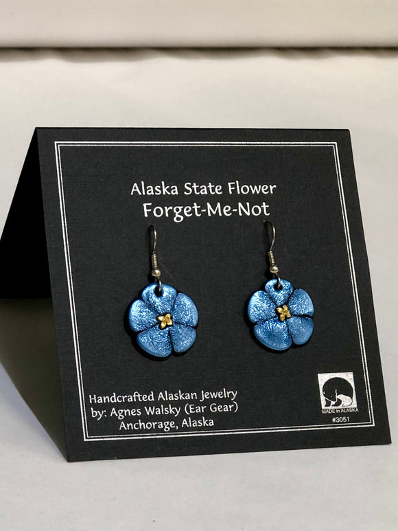 FORGET ME NOT LARGE DANGLE EARRING