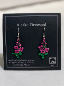 FIREWEED DANGLE EARRING