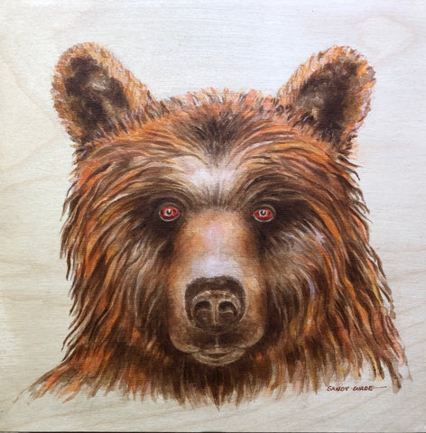 GRIZZLY STARE ORIGINAL PAINTING