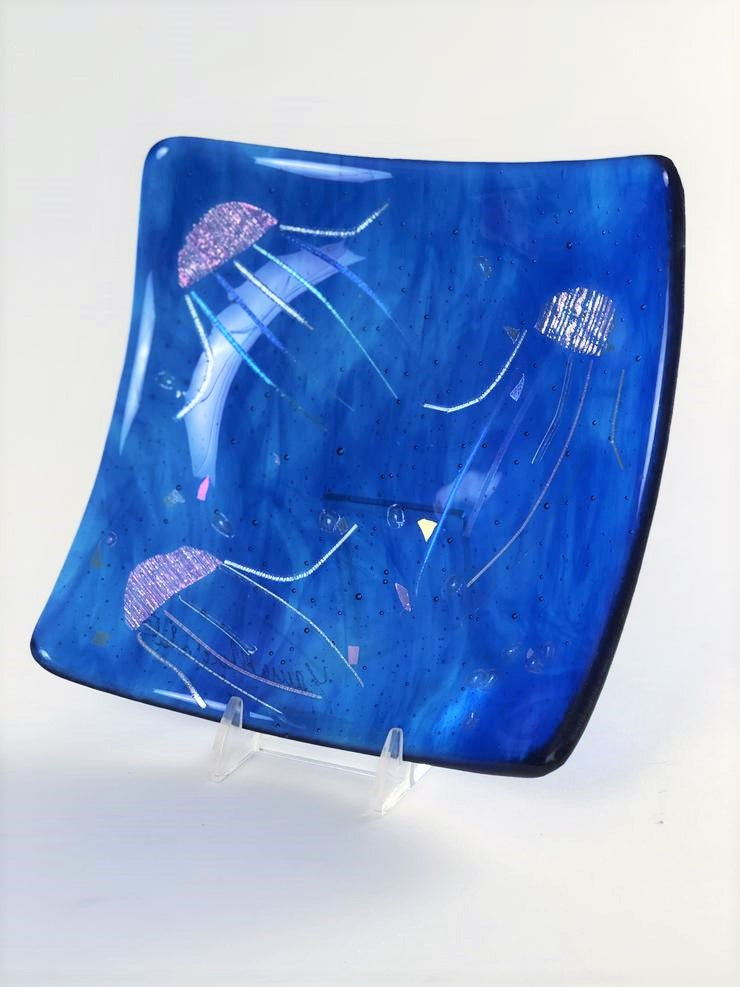 JELLYFISH SQUARE PLATE 6.5""