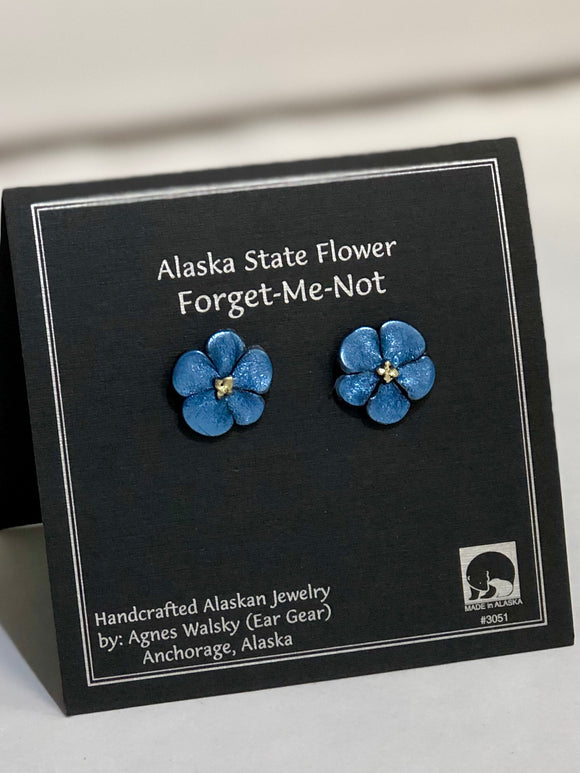 FORGET ME NOT LARGE POST EARRINGS