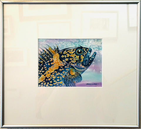 CHINA ROCKFISH ORIGINAL WATERCOLOR