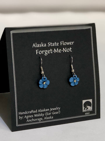 FORGET ME NOT SMALL DANGLE EARRING