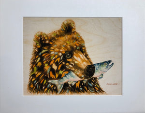 BEAR WITH SALMON