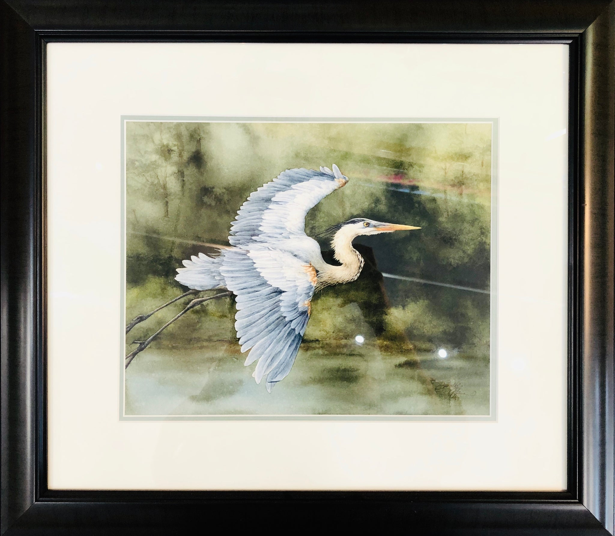 HERON FLIGHTS ORIGINAL WATERCOLOR