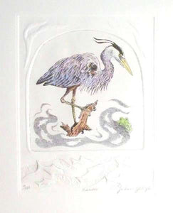 Heron Etching