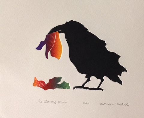 Quilting Raven