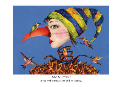 THE NURTURER ART CARD