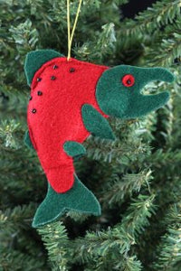 RED SALMON ORNAMENT