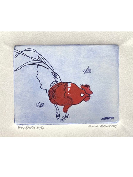 FIRE ROOSTER ETCHING