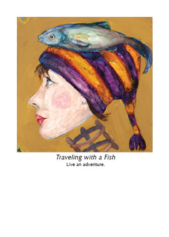 TRAVELING WITH A FISH ART CARD