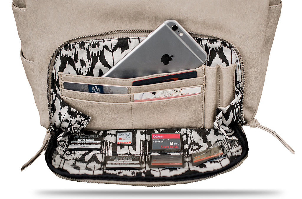 GREIGE HIPSTER CAMERA BAG