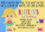 Beach Girl Birthday Invitation - Personalize Your Lookalike!