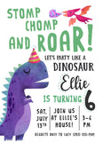Dinosaur Party: Personalized Prehistoric Invitation