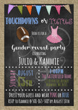 Football-Themed Gender Reveal Invitation