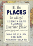 Oh The Places (S)He Will Go - Graduation Announcement
