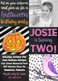 Halloween Party Invitation - Birthday or ANY day!