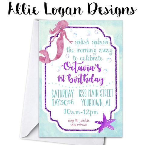 Mermaid / Under The Sea Invitation