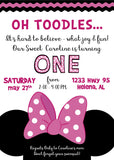 Minnie Inspired Oh Toodles Invitation