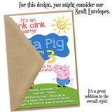 Peppa Pig Custom Invitation Kraft Envelopes | Allie Logan Designs