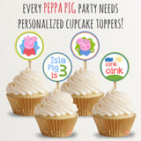Peppa Pig Custom Cupcake Toppers | Allie Logan Designs