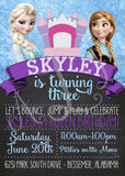 Frozen-themed Bounce-House Invitation