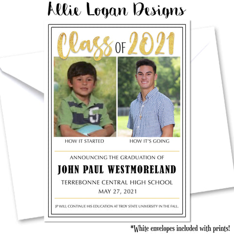 How It Started Graduation Announcement