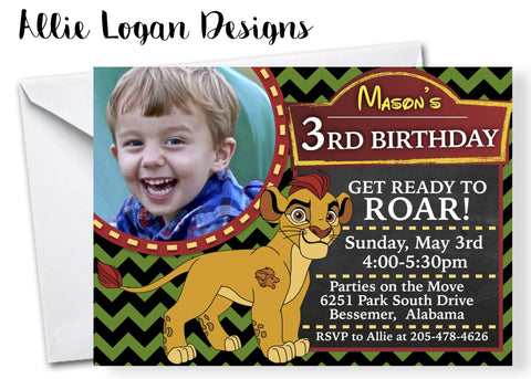 Lion Guard Inspired Birthday Invitations