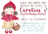 Little Red Riding Hood-Inspired Birthday Invitation