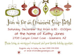 Ornament Swap Holiday Party Invitation