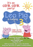 Peppa Pig-Themed Birthday Invitations