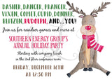 Reindeer Games Holiday Party Invitation
