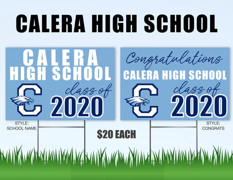 Calera High School Senior Shout Out Yard Sign
